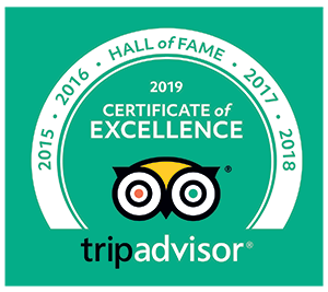 TripAdvisor Hall of Fame, 6 years of Certificates of Excellence for Positano's Palm Harbor